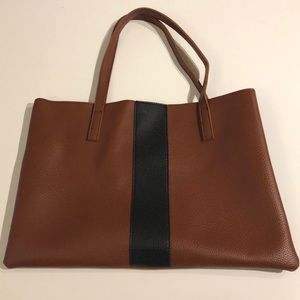 Vince Camuto brown leather tote new condition!!